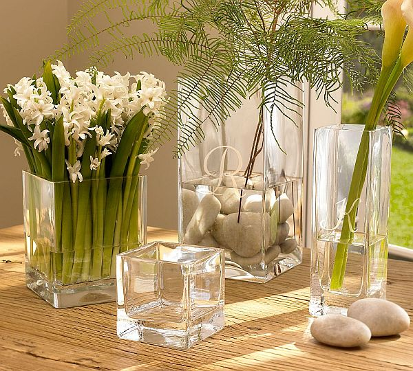 Elegant Square Glass Vases Nice Ideas
