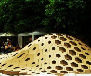 Hexigloo – pavilion in Bucharest