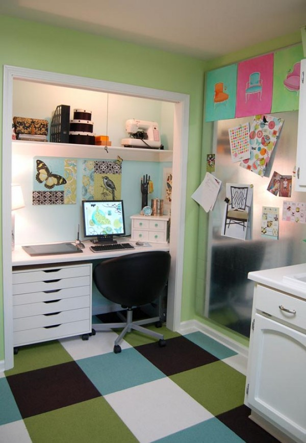 office in closet broom closet home office ideas