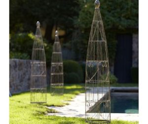 Wire Garden Trellis from Pottery Barn