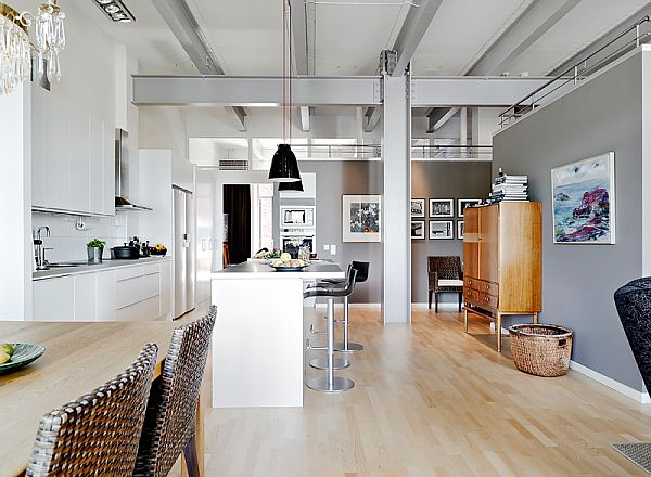 Industrial style apartment on the sixth floor - Trendy home decor stores plan ...