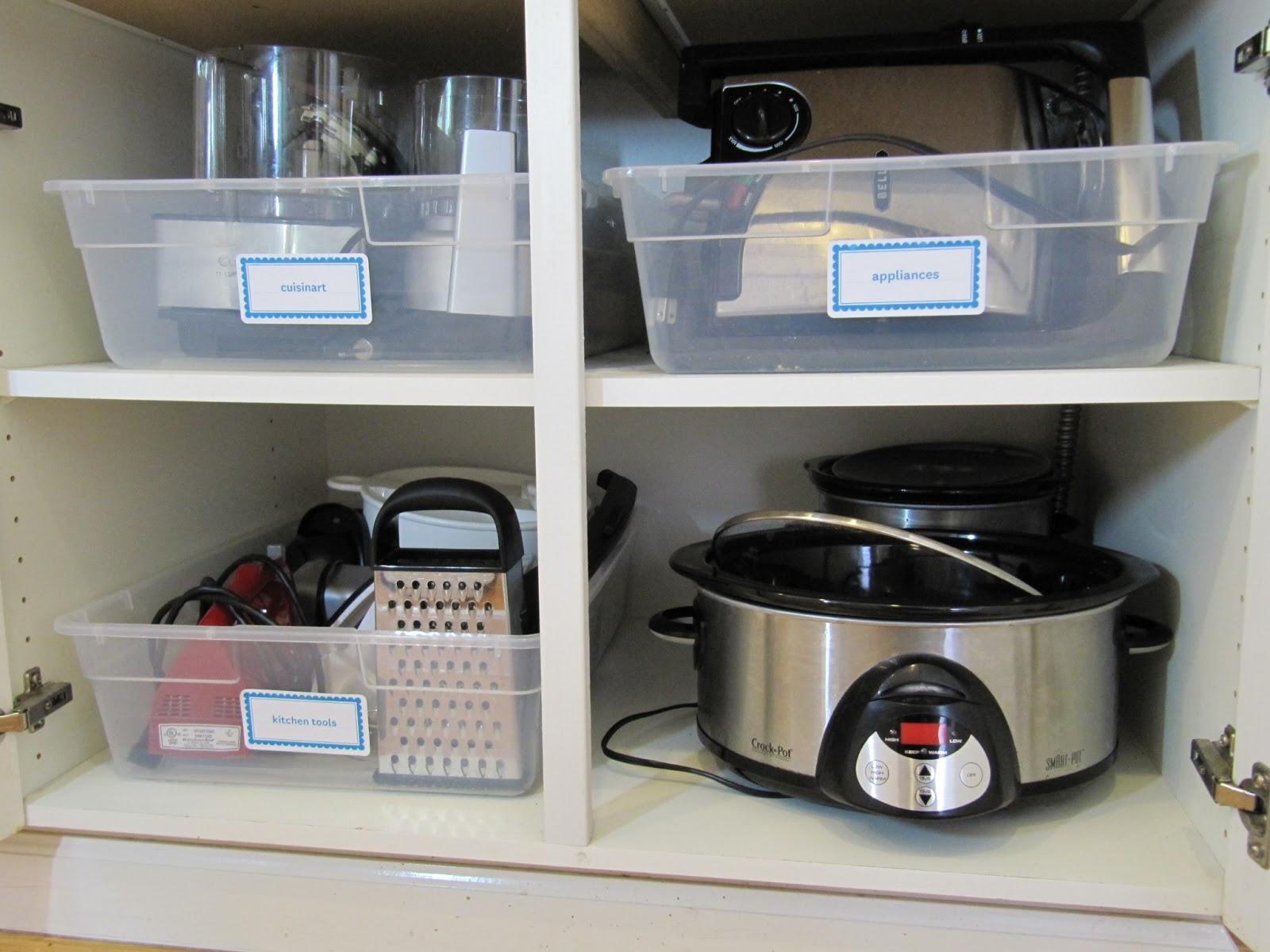 How To Organize Appliances In Kitchen