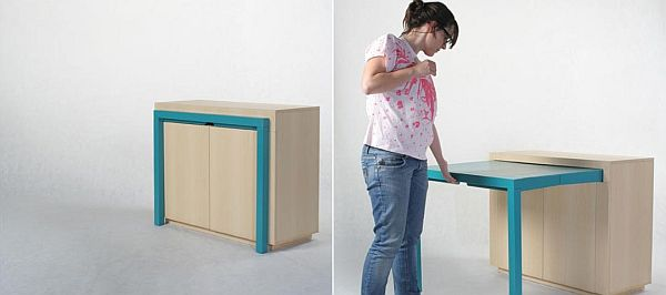 Convenient Table Cabinet From Attua Aparicio Torinos