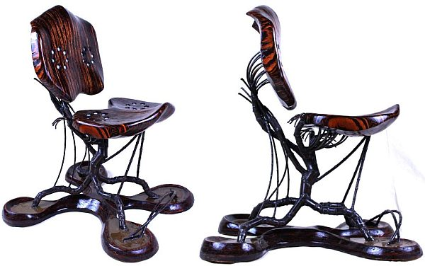 View In Gallery. This Unusual Looking Chair Uses Both ...