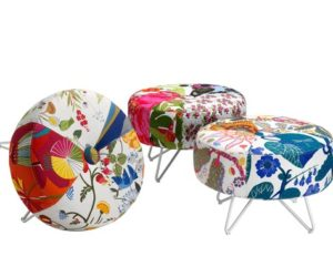 Joyful Mitab Button with Swedish Fabrics by Form Us With Love