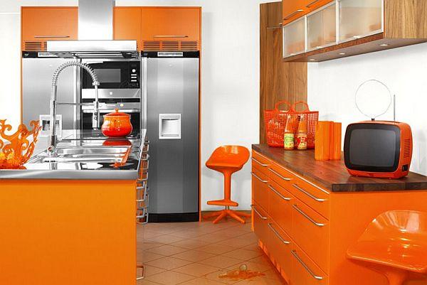 Ideas To Design Orange Kitchens View In Gallery