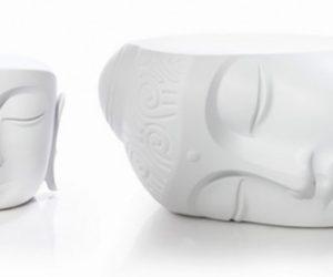 Buddha table and pouf