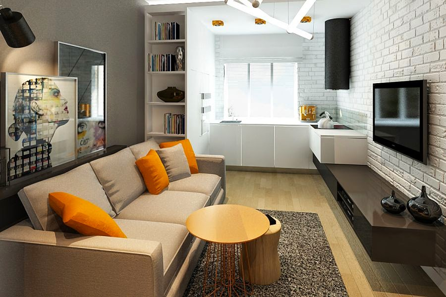 Kitchen And Living Room Together Home Design