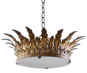 Royal iron chandelier from Tara Shaw Maison