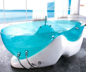 Elegant Futuristic Bathtub By Korra Futuristic Bathtub By Korra · Comfortable  Upholstered Headboard Great Pictures