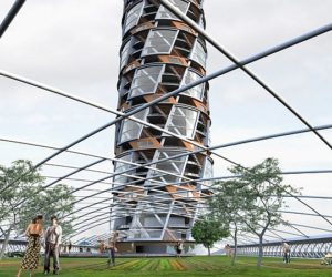 Futuristic residential building: V Tower by Meridian 105 Architecture
