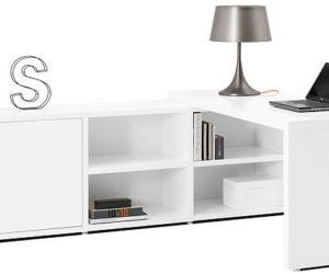 Simple And Functional Chantal File Desk · Functional White Desk