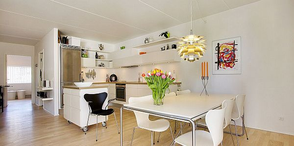 Splendid White Pure Interior Design Apartment In Denmark