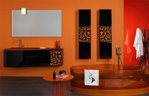 Wonderful Dare To Have An Orange Bathroom Nice Design