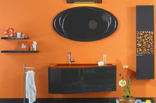 View in gallery Dare to Have an Orange Bathroom