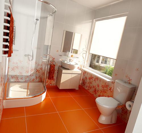 Dare To Have An Orange Bathroom