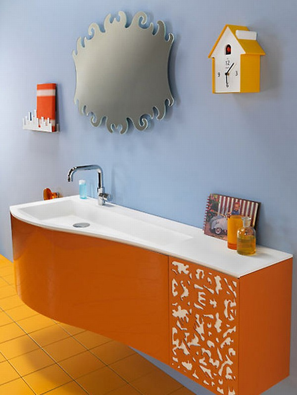 Home Decorating Trends HomeditDare To Have An Orange Bathroom