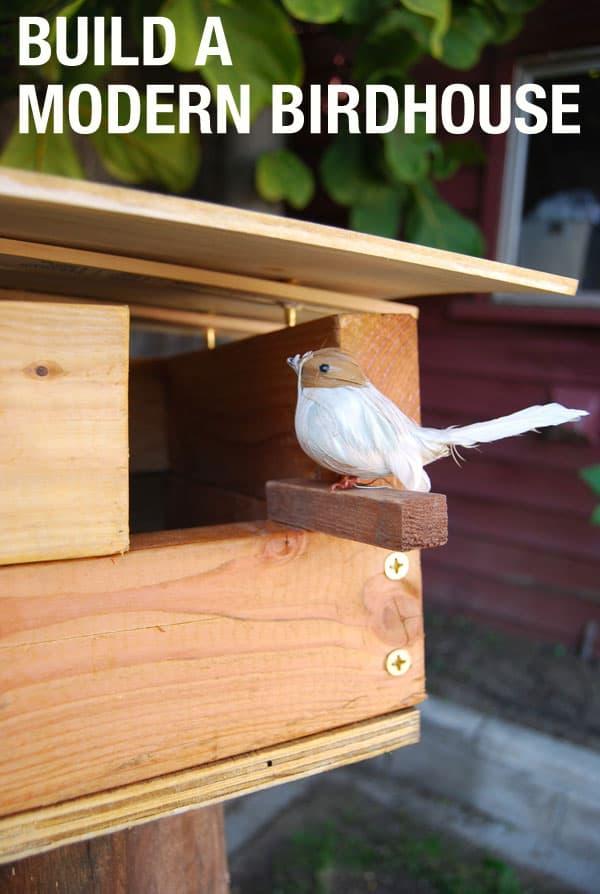 A contemporary birdhouse