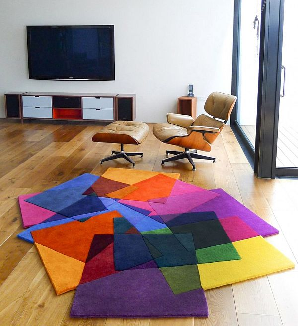 Irregular After Matisse rug by Sonya Winner