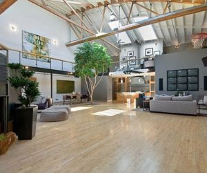 Unusual Large Apartment With Basketball Court