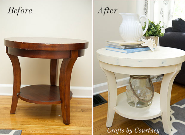 Before and after Round small Table