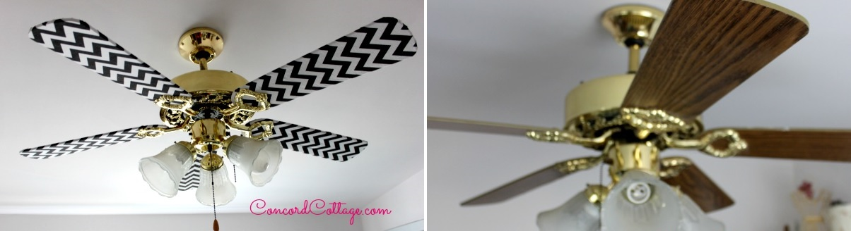 Before and after ceiling fan