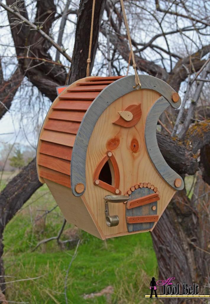 Crescent moon birdhouse