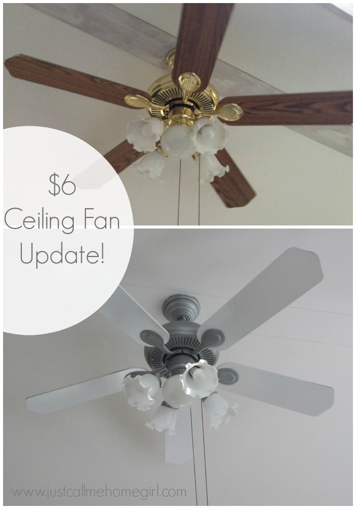 Dollar store ceiling fan update