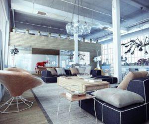 A Stylish Industrial Loft
