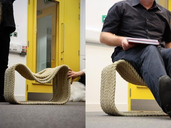A Chair Made From 80 Meters Of Rope By Jon Fraser