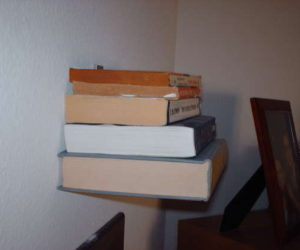 incredible invisible diy bookshelf