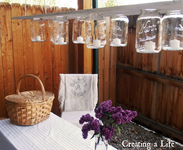 Mason Jars outdoor lighting