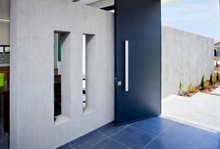 Modern and contemporary black door