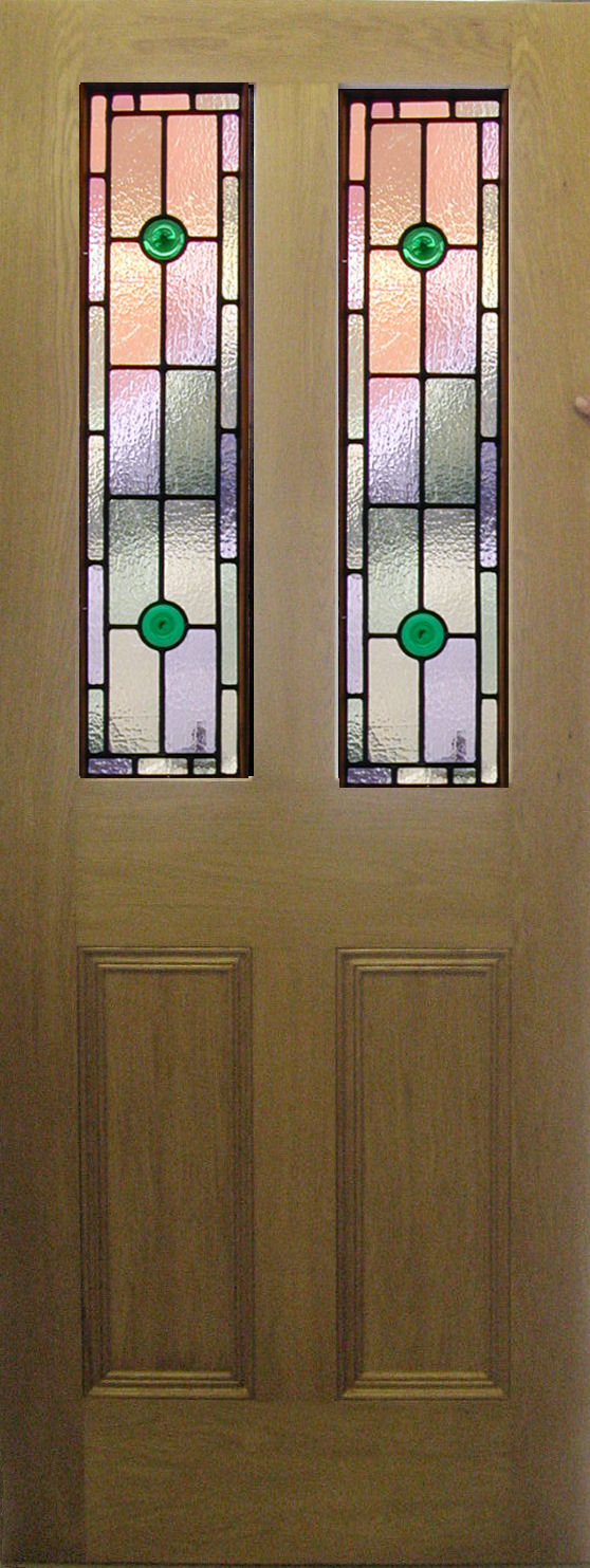 Stained glass front doors for Glass door in front of exterior door