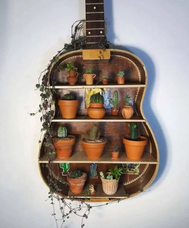 Ingenious Ways To Repurpose An Old Guitar Into Something Unique