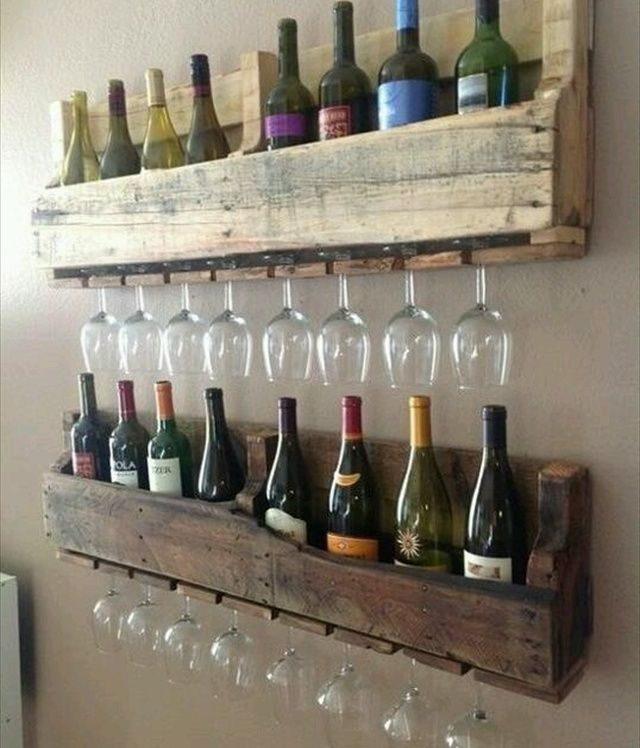 Pallet wine rack diy