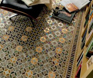 Porcelain and glass tiles for universal use