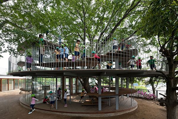 Innovative Elementary Classrooms ~ Ring around a tree in tokyo japan