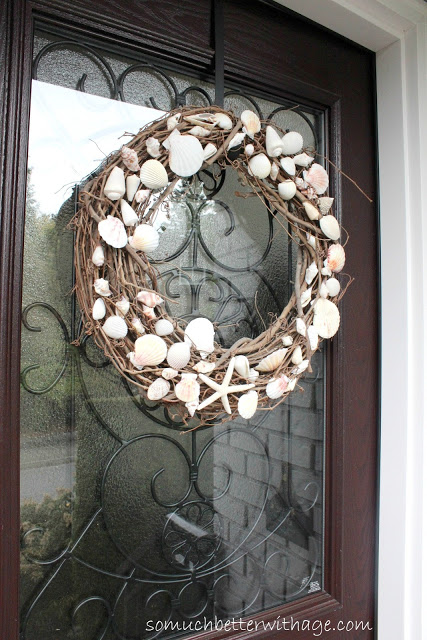 Seashell Wreath for front door