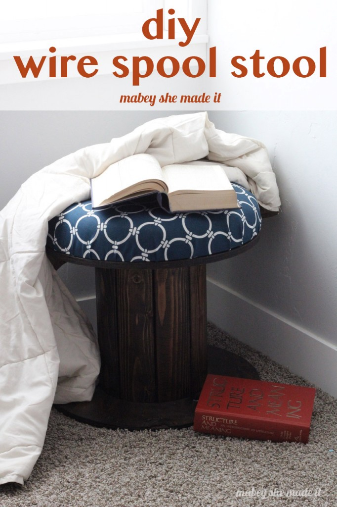 Spool stool makeover