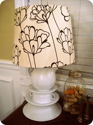 Teacup lamp tutorial