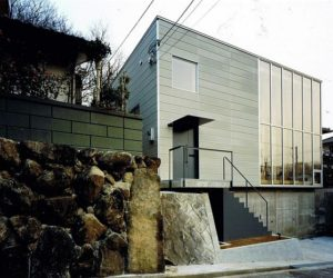 Wood Block House in Japan