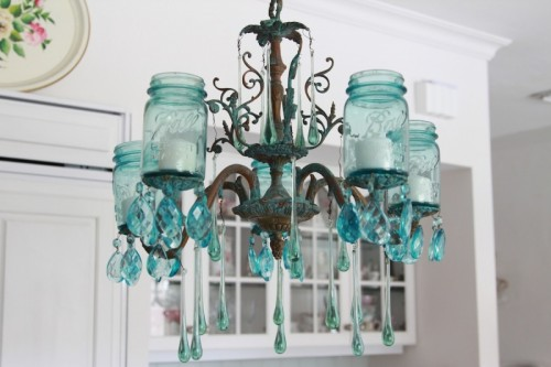 Mason Jar Lighting Fixtures Do It Yourself Amazingdiymasonjarchandelier1500x333 Homedit Lovely Diy Aqua Chandelier