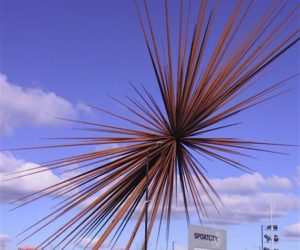 B of the Bang sculpture in Manchester, England