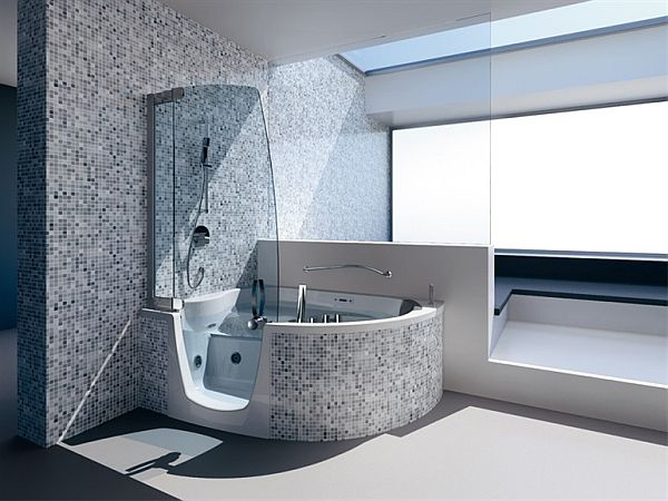 383 bathtub and shower combination by lenci design. Black Bedroom Furniture Sets. Home Design Ideas