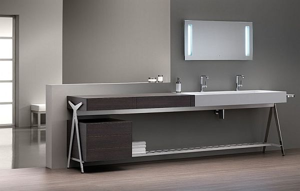 Exceptionnel Contemporary Bathroom Vanities And Cabinets