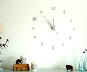 Ingenious DIY Wall Clock of House Numbers
