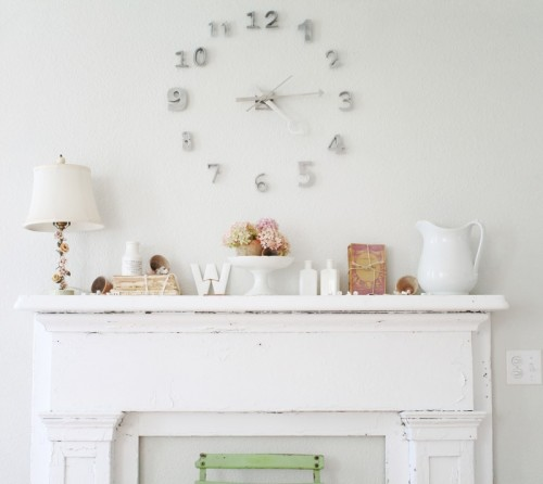 Now, Your Ingenious DIY Wall Clock Is Ready To Be Used And Count Your  Wonderful Moments Of Your Life.{found On Fadedplains}