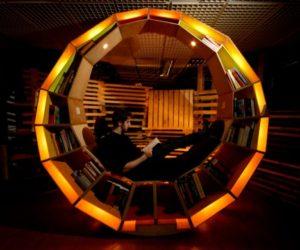 Wonderful Karim Rashid Sells His Glamorous Condo Loft · Expensive Luxurious Home  Library Good Looking