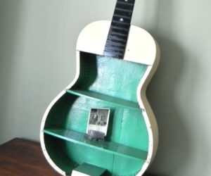 Ingenious DIY Shelving from an Old Guitar